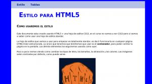 Página en html5